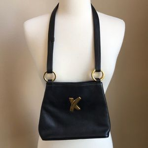 Palsma Picasso Black Leather Shoulder Bag